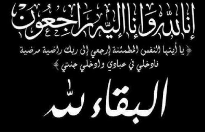 وفاة الأخ الاستاذ الدكتور محمود منشي