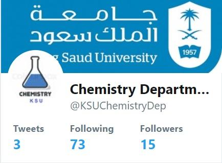 حساب قسم الكيمياء على تويتر