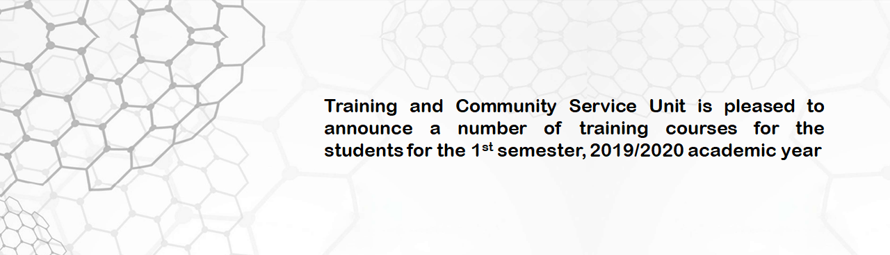 Training Courses for Students - Training and Community Service Unit is pleased...